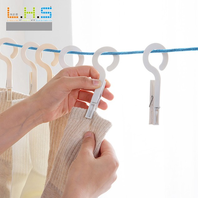 2017 4 Clips Underwear Socks Clothes Laundry Hanger Hook Drying Rack