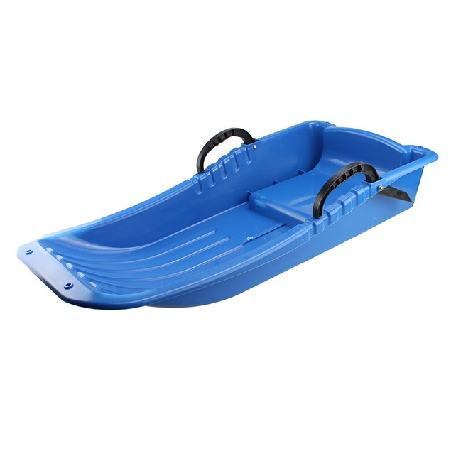 Winter durable Plastic snow Sled in boat shape Snow Sledge Snow board blue