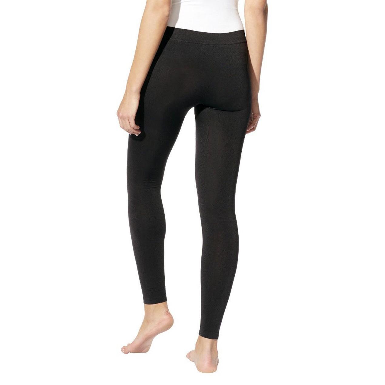 c73cfc045595c ... Leggings Hanes Women's Long 'n Lean Black ...