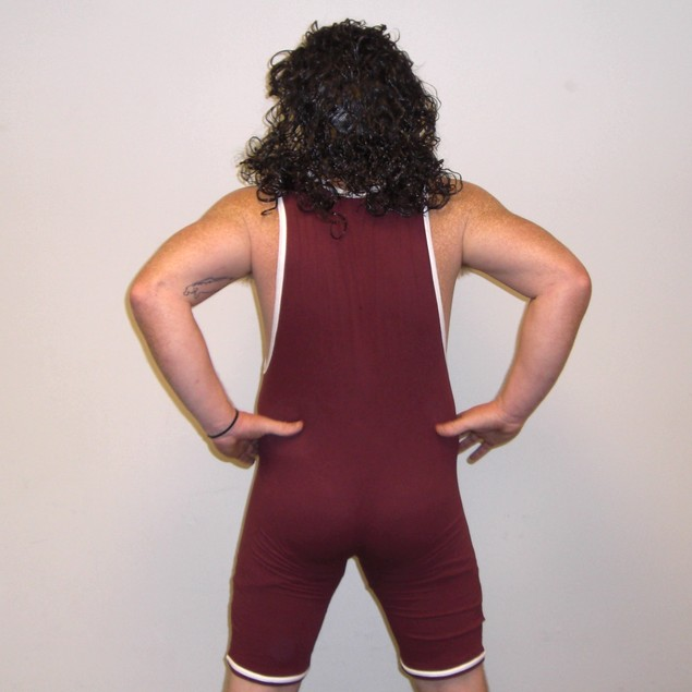 A.C. Slater Bayside Wrestling Singlet Costume With Pink Logo