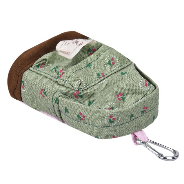 Canvas Mini Floral Backpack Women Girls Kids Cheap Coin Pouch
