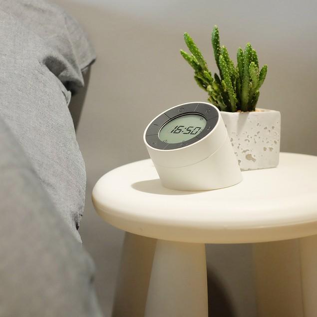 Digital Alarm Clock for Bedrooms, Travel, Kitchen, Desk, Office, White