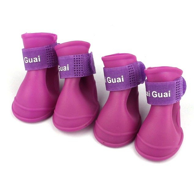 Dog Candy Colored Waterproof Rubber Boots