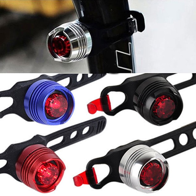 Cycling LED Front Rear Tail Helmet Flash Light
