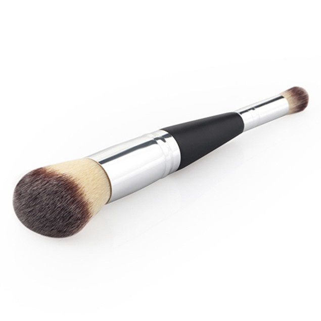Cosmetic Pro Double-End Wooden Handle Eyebrow Blush Brush
