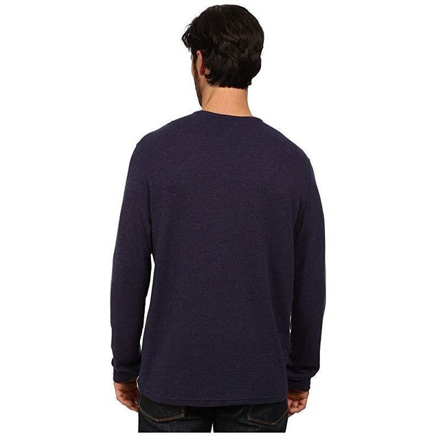 Tommy Bahama Men's Moray Striped Reversible Vee Navy Heather T-Shirt S