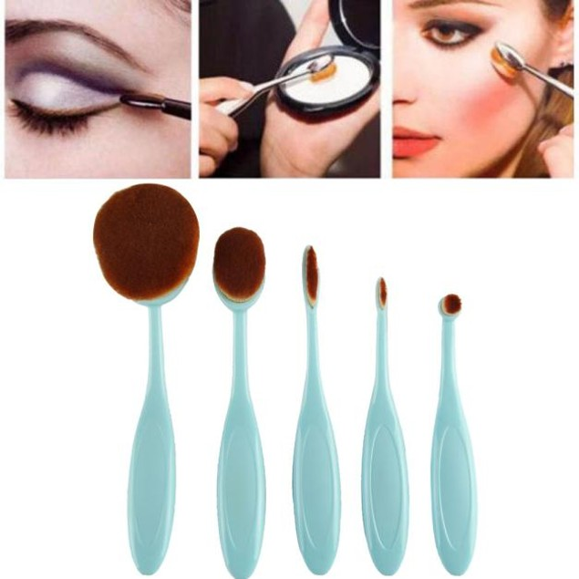 5PC Toothbrush Style Eyebrow Brush Foundation Eyeliner Makeup Brushes