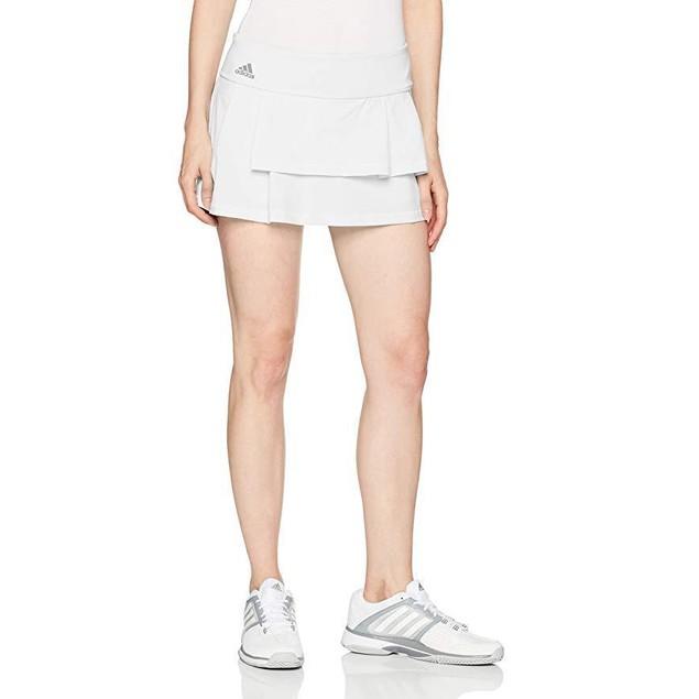 adidas Women's Tennis Advantage Skirt, White/Layered, SZ  X-Large