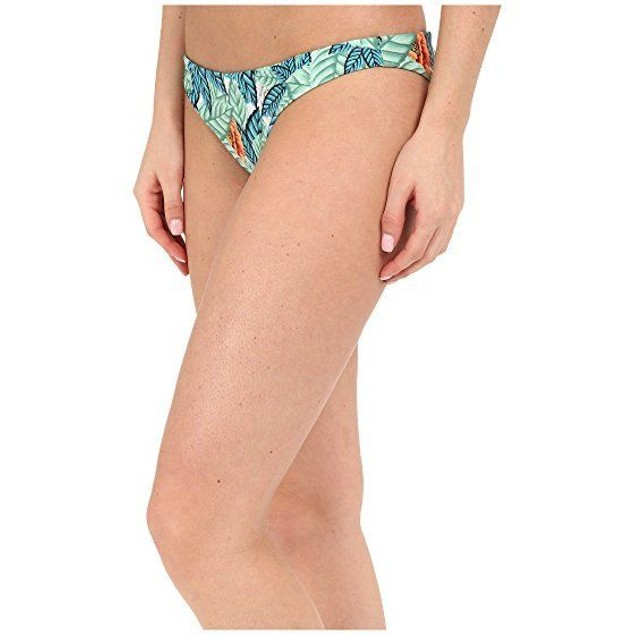 Mara Hoffman Women's Ruched Brazilian Bottom Leaf Swimsuit Bottoms SZ