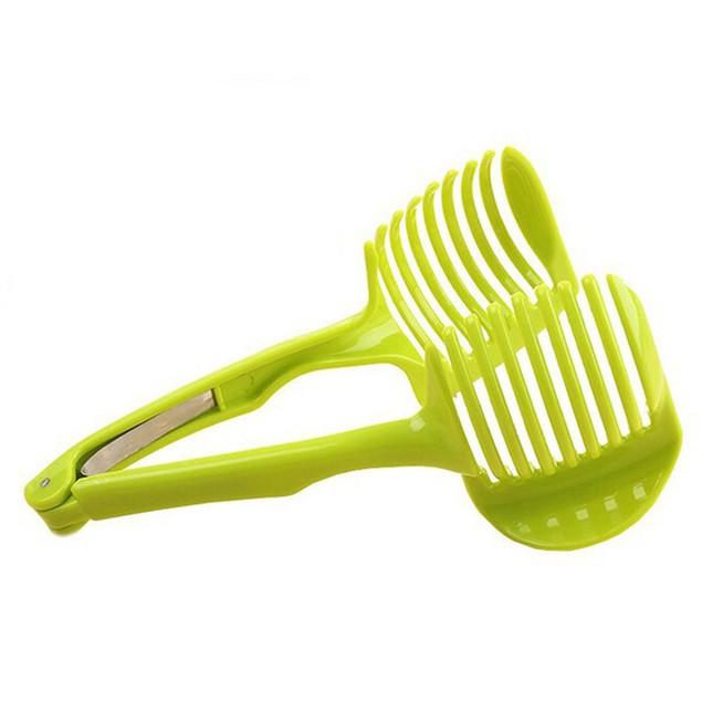 1pc Handheld Circular Lemon Tomato Slicer Kitchen Gadget