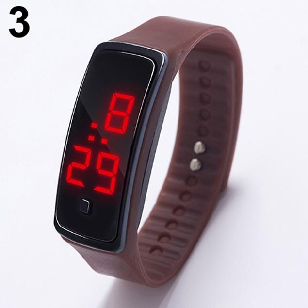 LED Fashion Sport Digital Silicone Running Bracelet Wrist Watch