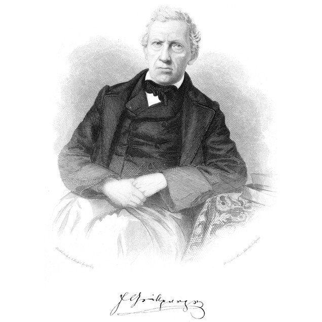 Franz Grillparzer /N(1791-1872). Austrian Playwright. Steel Engraving, Germ
