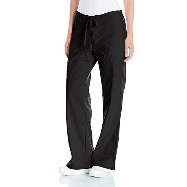 Code Happy Women's Bliss Mid-Rise Moderate Flare Drawstring Pant , SZ: