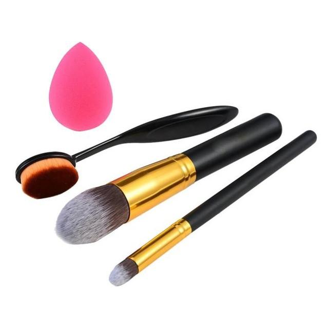4pcs Makeup Brush Makeup Sponge Makeup Brush Cleaner Foundation Brush