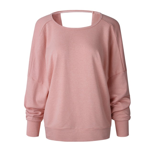 Long Sleeve Open Keyhole Back Sweater