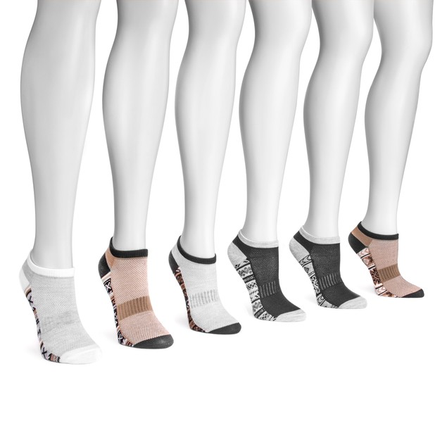 MUK LUKS ® Women's 6 Pair Pack No Show Compression Arch Socks