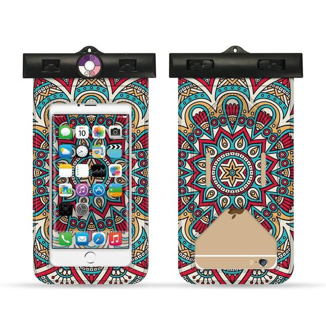 Waterproof Mandala Print Phone Pouch