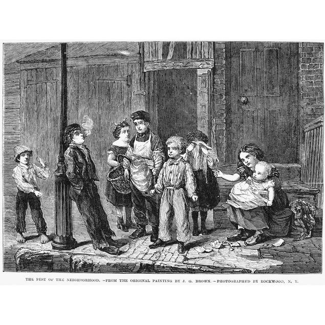 Street Urchin, 1867. /N'The Pest Of The Neighborhood.' Wood Engraving, Amer