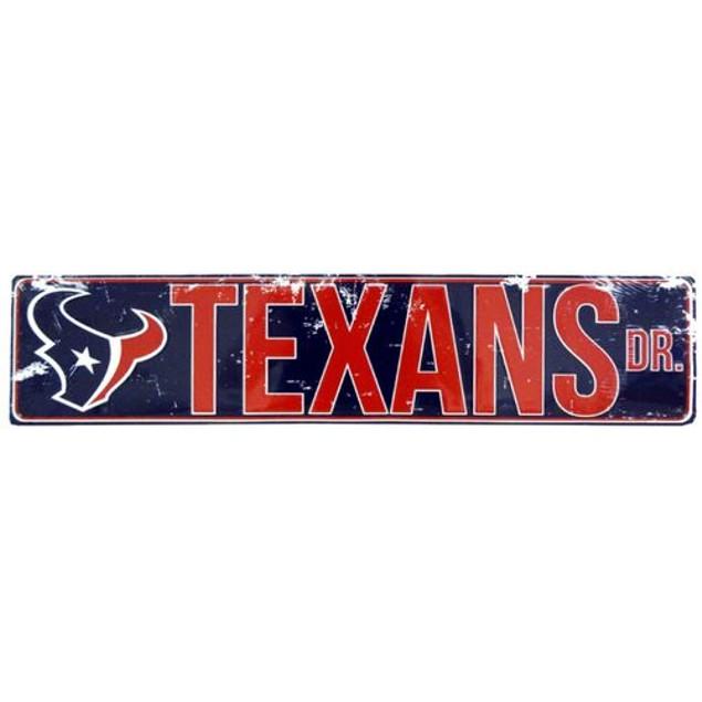 "Houston Texans NFL Texans Drive ""Distressed"" Metal Street Sign"