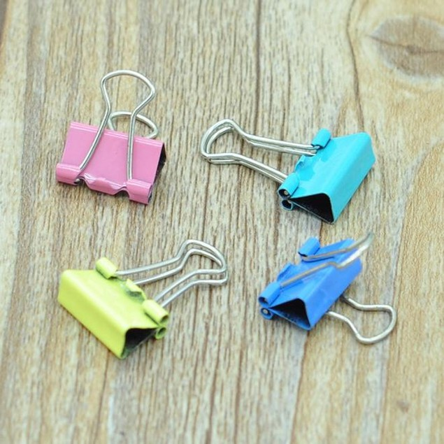 60x Metal Paper File Ticket Binder Clips 15mm Office School Supply Clip