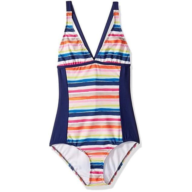 Splendid Big Girls' Watercolor Horizon One Piece Swimsuit SZ: 10