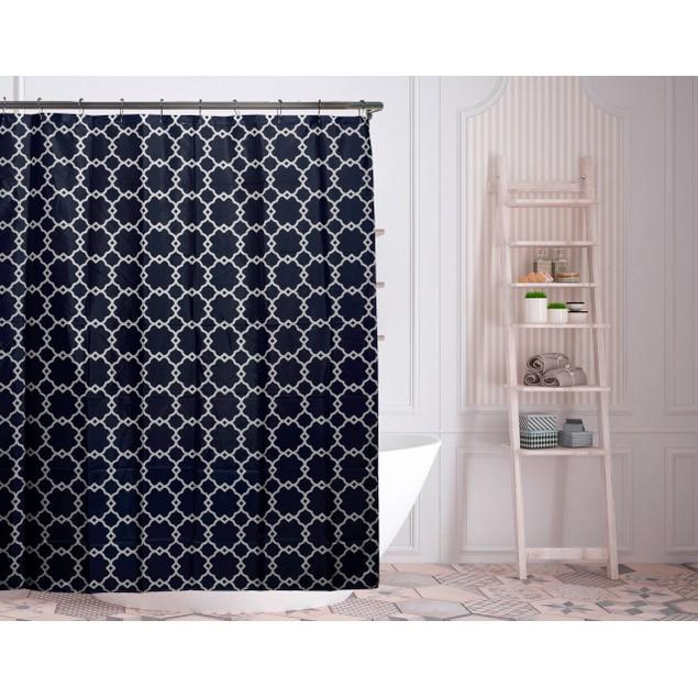 "Duck River Textile 72"" Alyssa Geometric Shower Curtains"