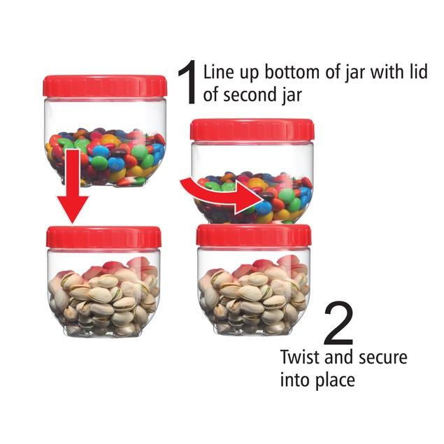 Volar Ideas Single Link 5 Piece Storage Jar Set