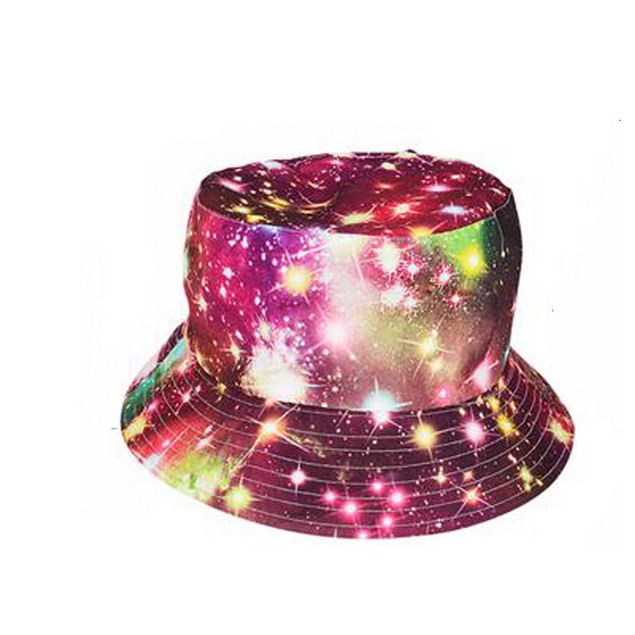 Galaxy Bucket Hat Pink Space Solar System Cosmos Outer Gift Cap
