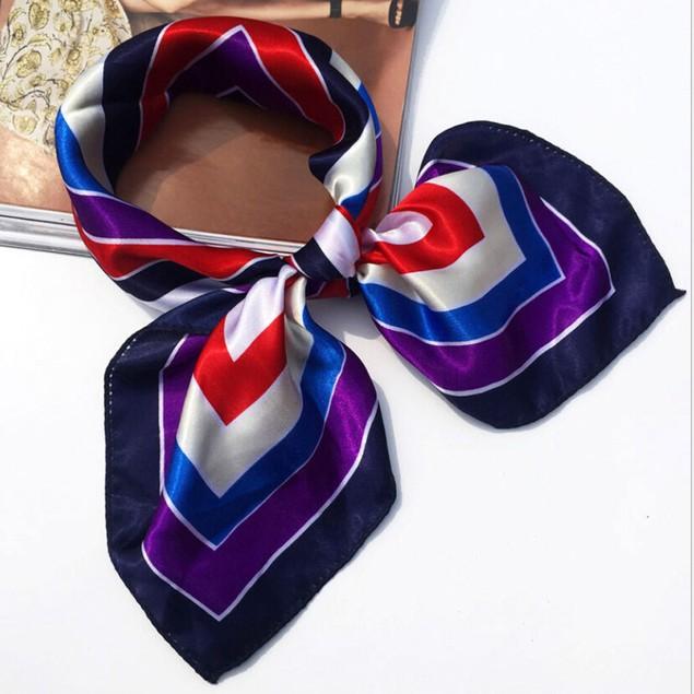 Women Square Head Scarf Wraps Scarves Ladies Printed Kerchief Neck Scarf