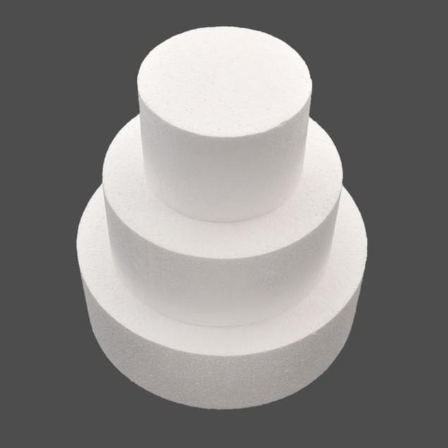 4/6/8inch Round Foam Cake Dummy Sugarcraft Flower Decor Practice Model