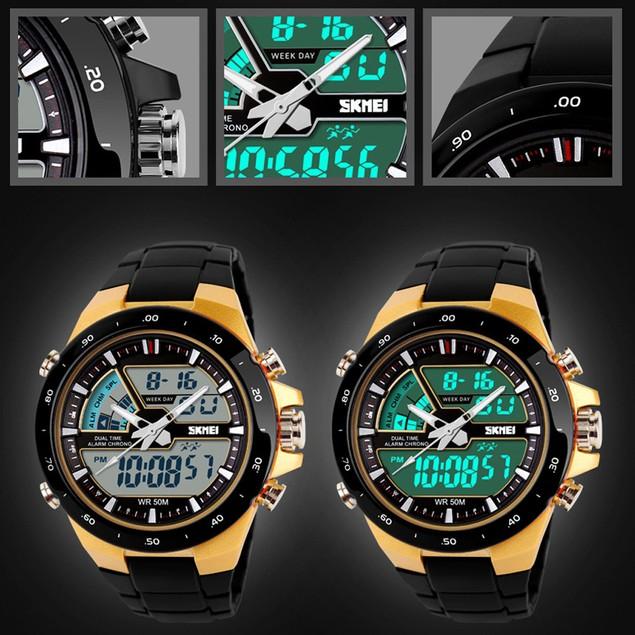 SKMEI Watch Sport Quartz Wrist Men Analog Digital Waterproof Military  H08