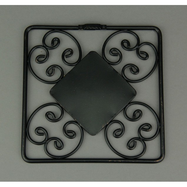 Decorative Scroll Vintage Finish Square Accent Wall Mounted Mirrors