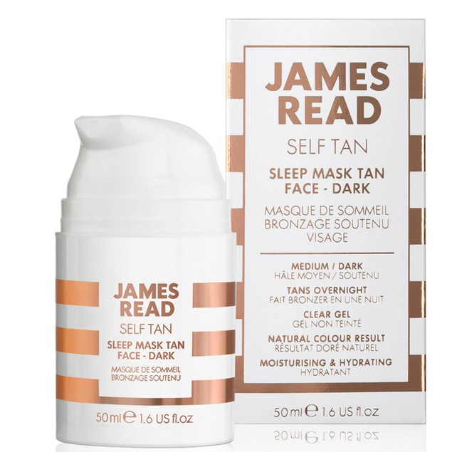 James Read Sleep Mask Tan Go Darker Face, Enriched w/ Soothing Aloe Vera,