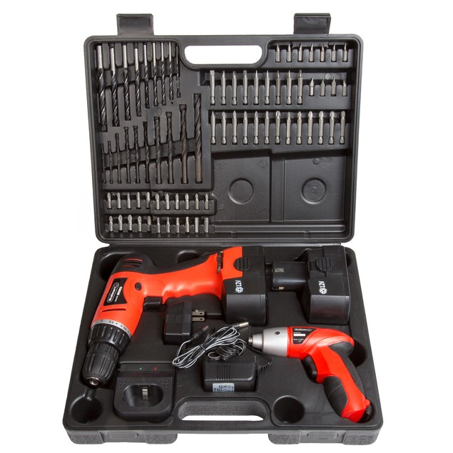 Stalwart 74 piece Combo Cordless Drill & Driver