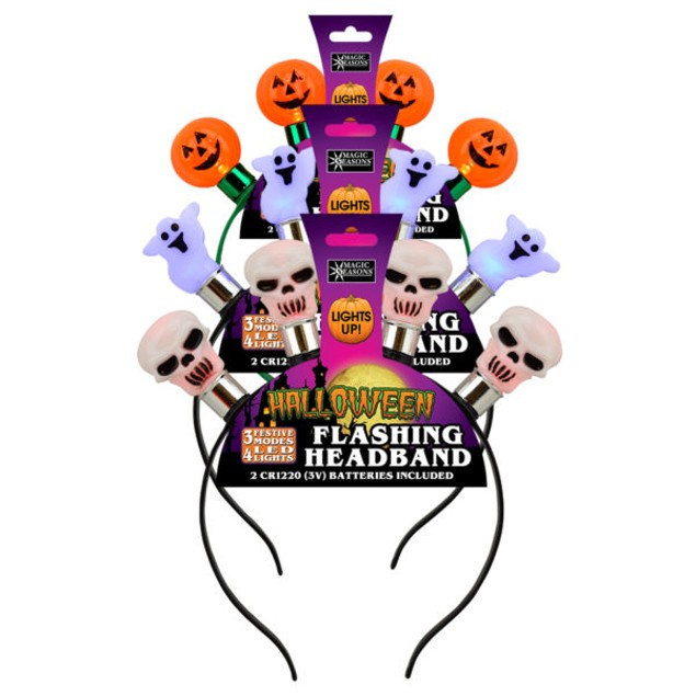 3 Pack Halloween LED Headbands