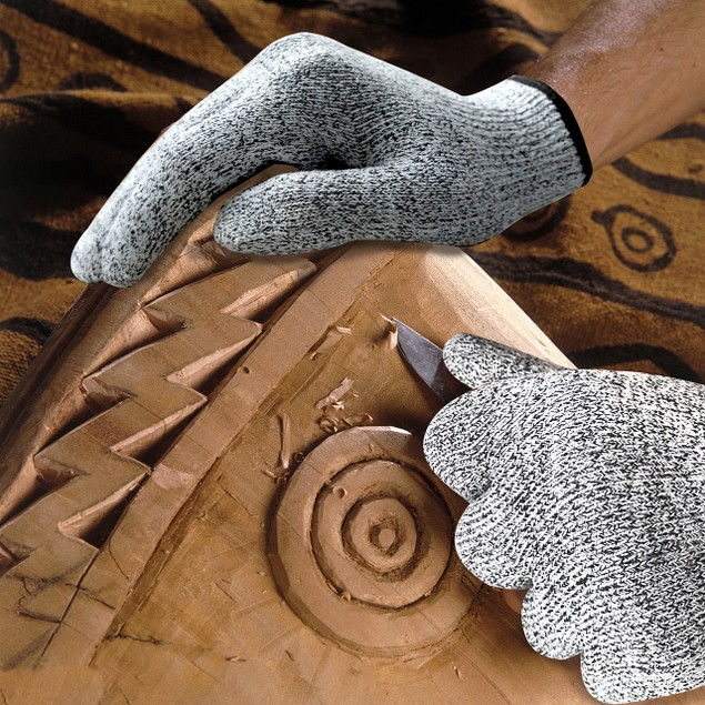 Cut Resistant Grey Gloves for cutting Chopping Fish Fillet and Yard-Work