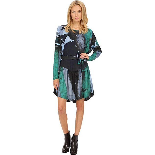 Vivienne Westwood Women's Manifestation Dress Green/Black 40 (US 4)