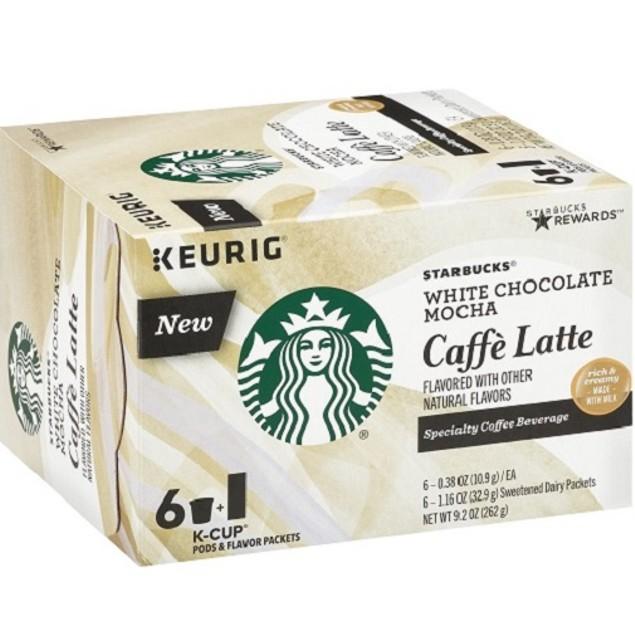 Starbucks White Chocolate Mocha Caffe Latte Keurig K-Cups
