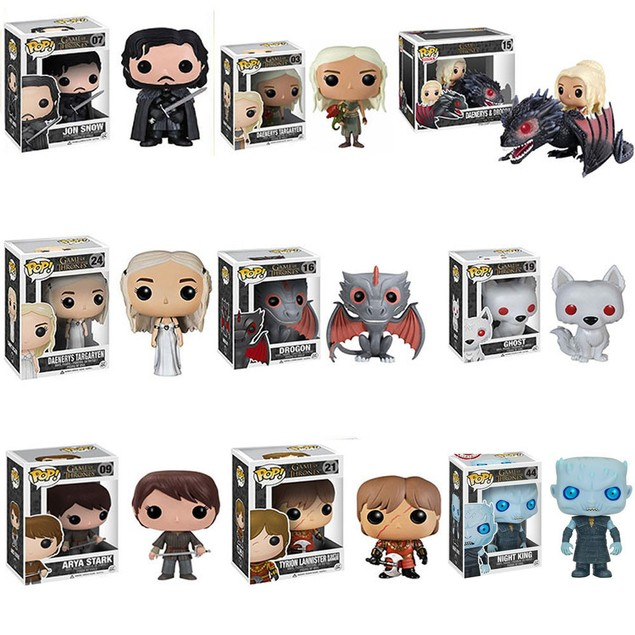 Rides Game Of Thrones Daenerys Drogon Jon Snow Ghost Figures Toy Gifts