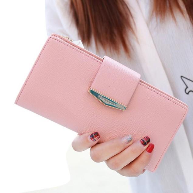 Women Bifold Wallet Leather Clutch Card Holder Purse Lady Long Handbag