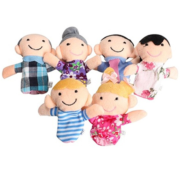 6Pcs/Set Baby Finger Puppets Story Game Hand Toys