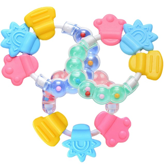 1Pc Lovely Baby Circle Balls Teether