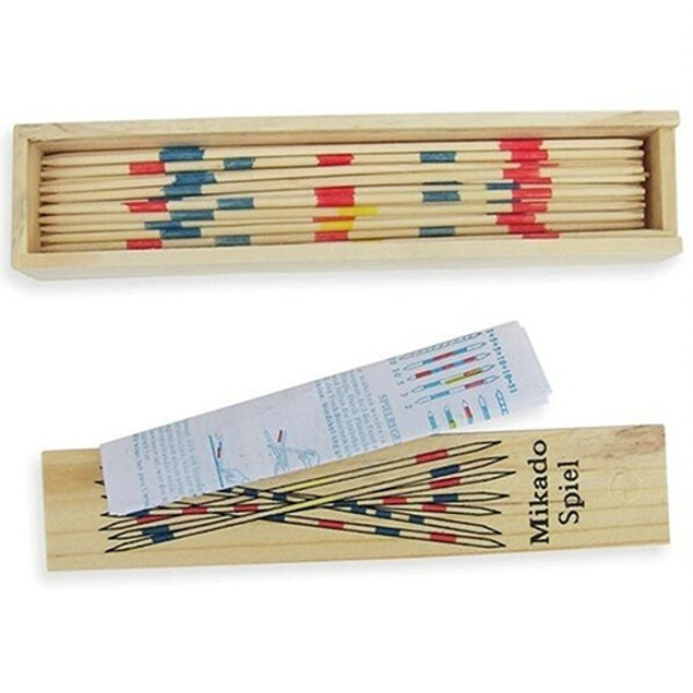 Classic Wooden Pick Up Sticks with Box Toys