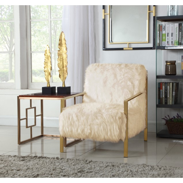 Chic Home Gala Faux Fur Accent Side Chair