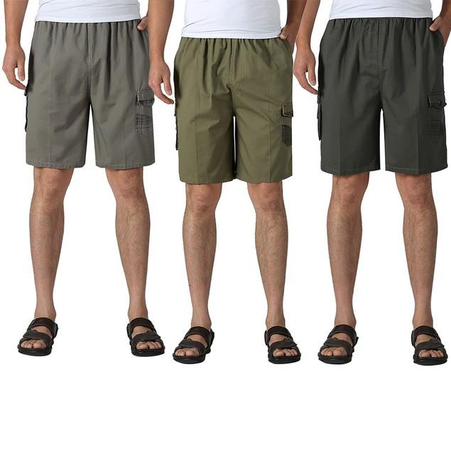 Men Loose Shorts Casual Beach Pocket Joggers Pants