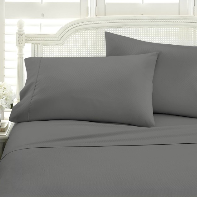 Becky Cameron 4 Piece Chevron Bed Sheet Set