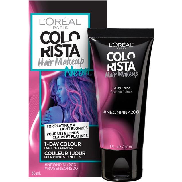 L'oreal Paris Colorista Hair Makeup Temporary Hair Colour, Neon Pink 200,