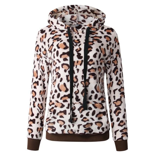 Lilly Posh Leopard Print Fleece Hoodie
