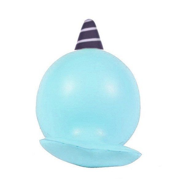9CM Soft Whale Slow Rising Squeeze Toy Phone Straps Ballchains
