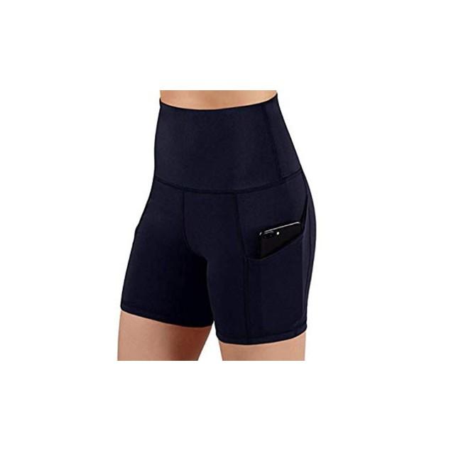 High Waist Gym Shorts with Pocket